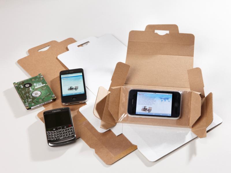 Korrvu fixeerverpakking voor mobiele apparatuur