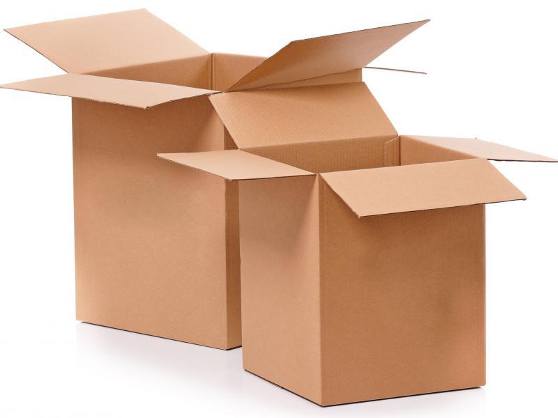 Klassieke kartonnen doos
